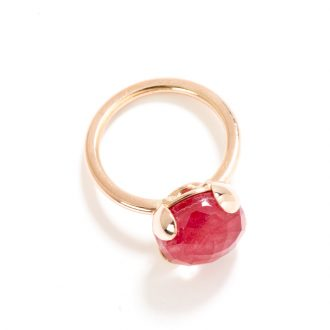 anello 12 mm quarzo rosso
