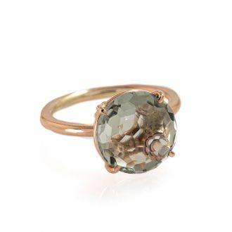 anello prasiolite 12 mm semipreziosi